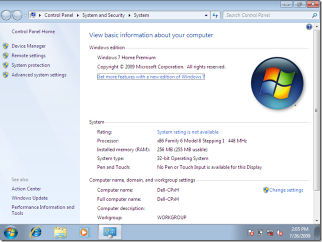 Geektieguy 187 Running Windows 7 Rtm On Really Old Hardware