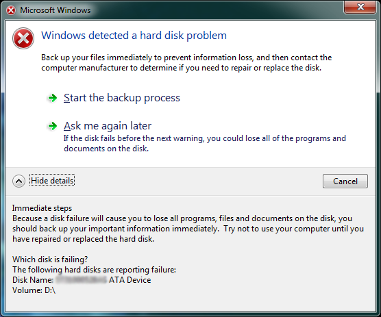 windows 7 disk smart