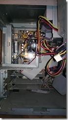 Under the power supply